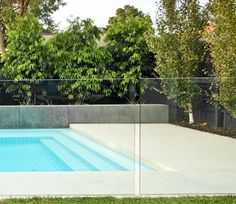 Frameless glass pool fencing - for front of pool (along entertaining)