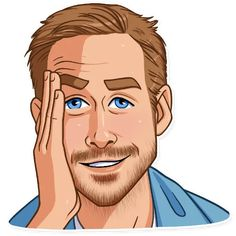 Sticker pack of Canadian actor and musician Ryan Gosling Emoji Man, Telegram Stickers, Ryan Gosling, Drawing Poses, Drawings, Funny, Fictional Characters, Eos, Vectors