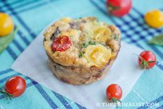 Basil, Sausage and Egg Muffins (Mini Frittatas) from ThePrimalist.com