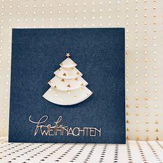 paper-life-style.blogspot.de Edle Weihnachtskarte in dunkelblau und gold aus dem dem Kreativkit von Charlie und Paulchen