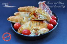 Bacon and Honey Cream Cheese Puffs