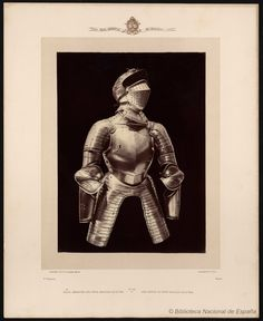 Media armadura del poeta Garcilaso de la Vega. Laurent, J. 1816-1886 — Fotografía — 1868?