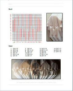 Skull Folded Book Pattern