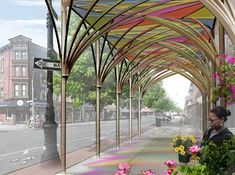 sustainable design, green design, new york city, sustainable architecture, urbanshed, public space, social design, urban umbrella sidewalk s...