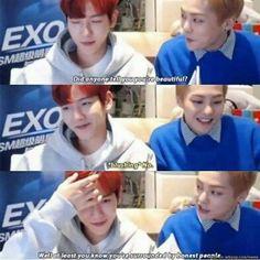EXO is savageeee Kpop Exo, Exo Xiumin, Chanbaek, K Pop, Day6 Sungjin, Oppa Gangnam Style, Funny Kpop Memes, Funniest Memes, Funny Humor