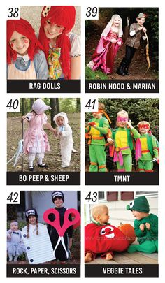 The search for the best family Halloween costume is over! We have collected 101 of the most creative (and easy to assemble) family Halloween costume ideas! Robin Hood Halloween Costume, Halloween Costumes For Sisters, Sister Costumes, Halloween Costumes For 3, Baby Girl Halloween, Diy Halloween Costumes For Kids, Holiday Costumes, Halloween Costumes For Girls, Fun Costumes