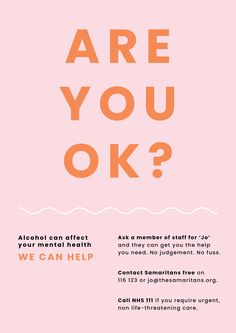 Campaign posters to raise the awareness of mental health issues related to alcohol consumption. Mental Health Posters, Mental Health Crisis, Health Ads, Health Logo, Mental Health Campaigns, Campaign Posters, Are You Ok, Awareness Campaign, Create Awareness