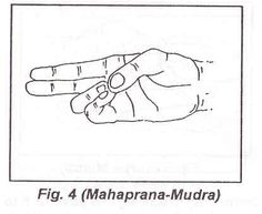 Method: This Mudra is achieved by joining the thumb with the tips of the ring and little fingers. Benefits: By practicing this posture 5 to 15 minutes for 15 days, it gives relief from disorders of the eye, improves eyesight, and increases vital energy and resistance power. It is helpful in physical ability.