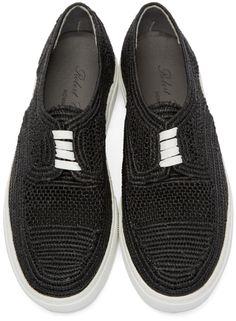 Robert Clergerie - Black Raffia Tribal Sneakers