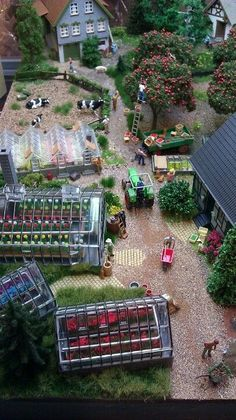 A beautifully-rendered horticulturist establishment. Frank Markley has done it again! Lovely! #modeltrains