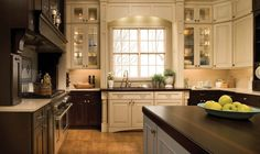 Love The Cream Mixed With Brown Cabinets.