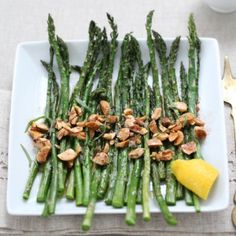 Asparagus with Browned Butter and Marcona Almonds « Go Bold with Butter