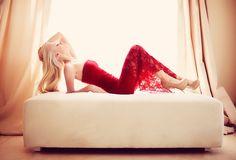 Red - Model: Dana Koptev.For  Dominique