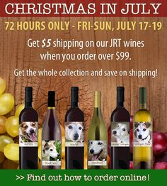 Order $99 of our #jackrussell wines now-Sun and get a $5 drop fee! Portion of purchase goes to the rescues. #jackrussell #handcrafted #wine