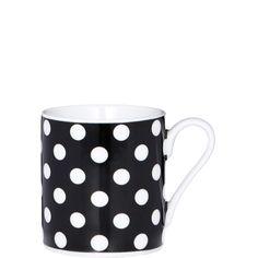 BLACK & WHITE Espressotasse kleine Punkte