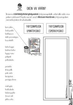 Tässä versiossa on mukava myös yhdysviivalla kirjoitettavia yhdyssanoja. Learn Finnish, Finnish Language, Bingo, Classroom, Letters, Teaching, Class Room, Letter, Education