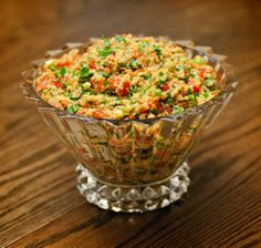 """Quinoa Tabouli: """"YUM! Very good, and the only quinoa recipe I could get my kids to eat!"""" -Chef #377733"""
