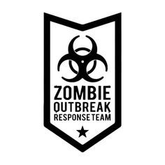 Zombie Outbreak Die Cut Vinyl Decal PV535 for Windows, Vehicle Windows, Vehicle Body Surfaces or just about any surface that is smooth and clean!