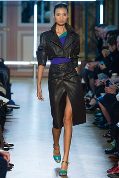 Roland Mouret SS13. Fantastic folded leather
