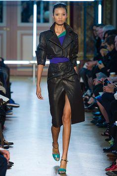 Roland Mouret SS13. Fantastic folded leather