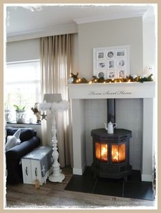 Bedroom Decorating Ideas Kitchen Inspiration Ideas Pellet Stove Mantle Woodstove Christmas Tamara Jonker Home Inspirations Bedroom Decorating Ideas Kitchen Inspiration Ideas Pellet Stove Mantle Woodstove Christmas Tamara Jonker Home Inspirations My Living Room, Home And Living, Living Spaces, Cozy Living, Wood Pellet Stoves, Wood Burner, Home And Deco, Home Projects, Home Remodeling