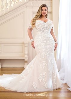 2019 Hot African Nigeria Mermaid Wedding Dresses Beaded Tiered Ruffles Court Train Custom Plus Size Formal Bridal Gowns - Plus size wedding gowns - Plus Size Wedding Gowns, Dream Wedding Dresses, Bridal Dresses, Plus Size Brides, Full Figure Wedding Dress, Wedding Skirt, Modest Wedding, Ivory Wedding, Bridesmaid Dresses Online