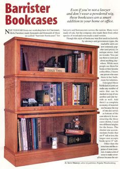 #1029 Barrister Bookcase Plans - Furniture Plans and Projects