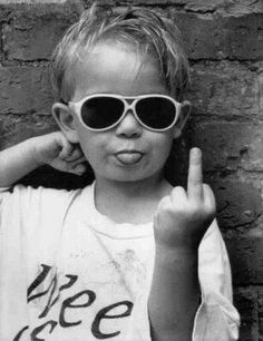Buy Pyramid America Hi Mum Middle Finger Little Kid Sunglasses Giving The Finger Funny Humorous Photo Cool Wall Decor Art Print Poster Middle Finger Picture, Middle Finger Meme, Rude Finger, Urban Pictures, Black And White Words, Funny Good Morning Quotes, Morning Pics, Morning Pictures, Foto Baby