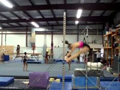 Doing stalders and sole circles on women's gymnastics bars. Bar Tricks, Women's Gymnastics, Female Gymnast, Best Relationship, Drills, Super Powers, Circles, Coaching, Humor