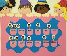 Sınıf içerisinde doğum günü kutlama panosu // Birthday Board