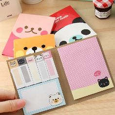 """""""Pet Club"""" Pack of 4 Cute Folding Sticky Notes Post It Flags Memo Adhesive Pads #Unbranded"""