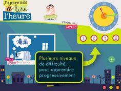 DÉCOUVERTE DU MONDE - J'apprends à lire l'heure est une application dédiée à la lecture de l'heure. Android, Ipad, Cycle 2, Maths, Montessori, Effort, Stage, Logo, Math Lessons