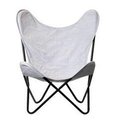Vlinderstoel grijs