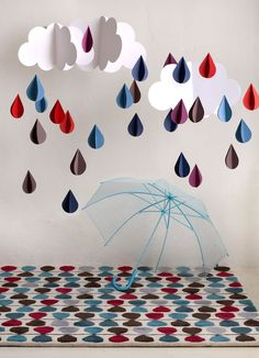 GAN-RUGS HandTufted collection - I adore this rain drop rug...  great colors!