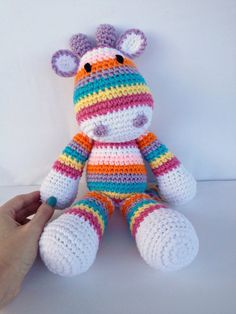 Crochet Giraffe Doll by YouHadMeAtCrochet