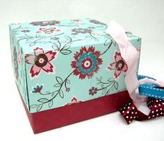 I'm always looking for original, beautiful and unique ways to wrap gifts. Here's an idea for giving a gift in a box of your own creation. instead of wrapping the gift put it in a box!  All you need ar