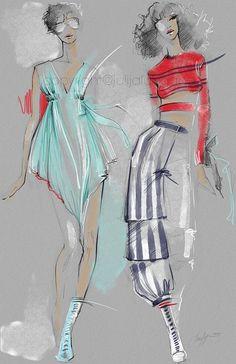 Fendi Fashion illustration print Poster art от JulijaLubgane #WomensFashionIdeas