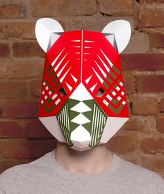It is our great pleasure to present to you our mask - Bear head with decor.  Paper masks are awesome - fun to make, easy to customize by adding