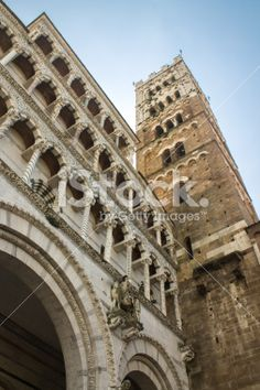 Detail of Cathedral of Lucca Royalty Free Stock Photo