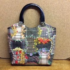 Check Out Stunning Silk Ribbon Embroidered Wool Handbag By Susan From Sew Whats New At Mode Patchwork Bagscrazy