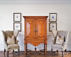 The antique prints of royal crests are from Antonio's Bella Casa. See more at www.luxesource.com. #luxe #luxemag #luxury #design #interiordesign #interiors #home #house #dwelling #residential #decor #homedecor #interiordecorating #interiordesignideas #architecture