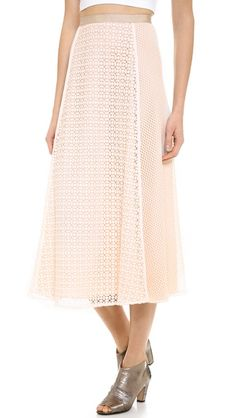 Lace Patched Skirt-Lace Is the New Sequins: 25 Picks