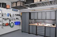 upper shelving - Garage Organization