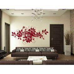 Virágos modern dekoráció : Swarovski falmatricák - KaticaMatrica.hu - A minőségi falmatrica és faltetoválás webáruház