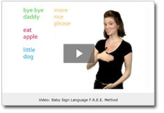 FREE baby sign language class online - less than 10 minutes/day, accessible via email.  Life is so much easier since my little one knows even just 4 signs (eat, milk, more, please).  @Shawna Magtutu - thought you might like this!