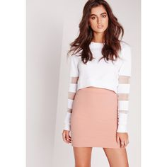 Missguided Croc Jacquard Mini Skirt ($26) ❤ liked on Polyvore featuring skirts, mini skirts, pink, short mini skirts, pink skirt, short pink skirt, pink mini skirt and missguided skirt