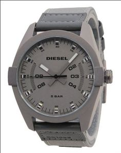 bd3235a869c Amazon.com  Diesel Men s Basics  Quartz Stainless Steel and Canvas Casual  Watch