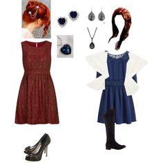 """""""Modern Rose"""" by jayceross on Polyvore #IceCarats http://www.icecarats.com/Sterling-Silver-Dark-Blue-and-Clear-CZ-Heart-Earrings-261677.aspx"""