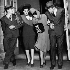 Don Ameche, Rosalind Russell, Kay, and Van Heflin in THE FEMININE TOUCH (1941)…