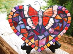 Mosaic heart created by Tina @ Wise Crackin' Mosaics